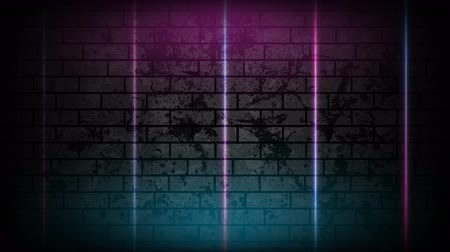 vivid wall : Blue purple neon lines technology grunge motion background