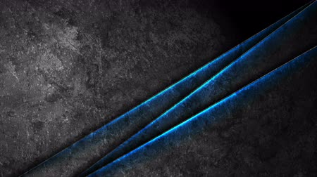 hi fi : Dark grunge concrete texture wall with blue glowing light video animation