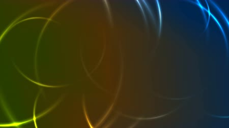 hi fi : Abstract glowing neon colorful circles geometric motion background Stock Footage