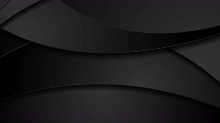broşür : Black abstract corporate motion design with waves