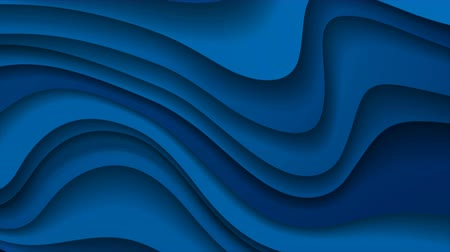 broşür : Dark blue paper waves abstract video animation