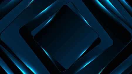 cián : Neon glowing blue squares abstract motion background