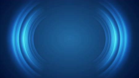keretében : Blue shiny technology motion background with abstract round shapes
