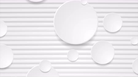 clipe de papel : White paper stripes and circles abstract video animation
