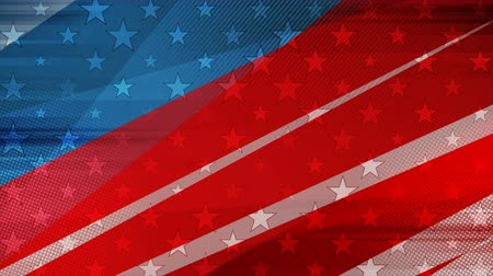 election campaign : Grunge concept USA flag abstract video animation