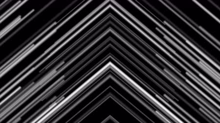 rysunek techniczny : Retro tech abstract motion background with monochrome neon laser arrows Wideo