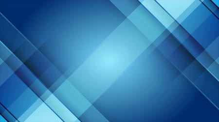 úhlopříčka : Bright blue tech geometric abstract minimal motion background