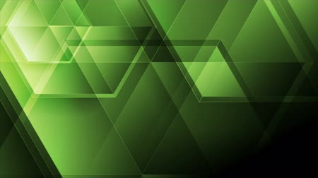 многоугольник : Green abstract tech motion background with glossy polygons