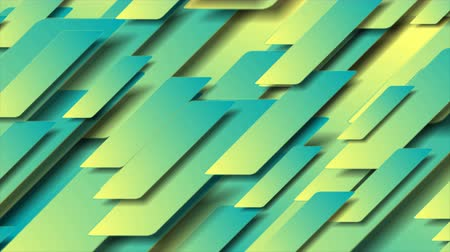 シアン : Contrast cyan yellow abstract tech geometric motion background