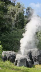 molas : Fang Hot Springs geyser timelapse. Fang Hot Springs is located in Chiang Mai Province, Thailand.