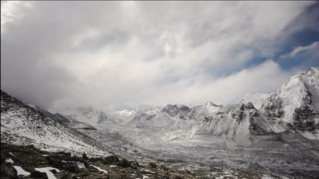 nuptse : Timelapse view in Everest region in Himalaya, Nepal