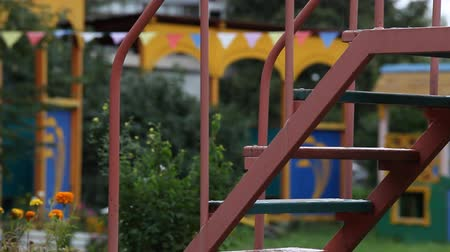 карусель : abandoned empty kindergarten in the state of emergency