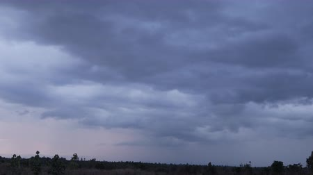 Dramatic stormy and cloud is moving mountain view,landscape Wideo