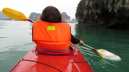 kayak : Kayaking in Halong bay, Vietnam