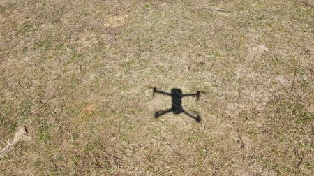 4k view of shadow of a drone in high wind Стоковые видеозаписи
