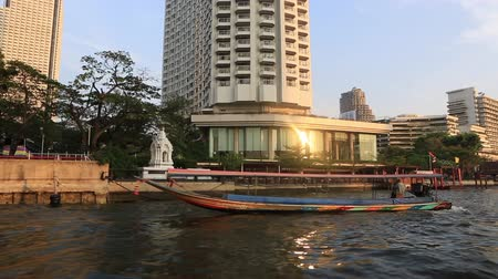 phraya : Bangkok, Thailand, March 2016: View of the Chao Phraya River from the Express Boat.