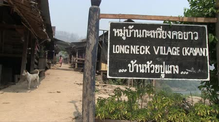 they : Mae Hong Son, Northern Thailand, March 2012: View of Karen Burmese refugee village known for its long neck women.