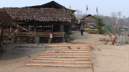 Mae Hong Son, Northern Thailand, March 2012: View of Karen Burmese refugee village known for its long neck women.