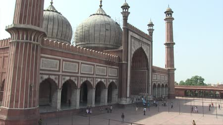 populace : Old Delhi, India, November 2011: Aerial view of Jama Masjid Mosque.