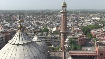 Aerial view of Old Delhi from the Jama Masjid Mosque. Dostupné videozáznamy