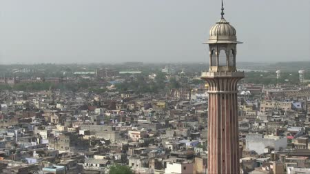 Aerial view of Old Delhi from the Jama Masjid Mosque. Wideo