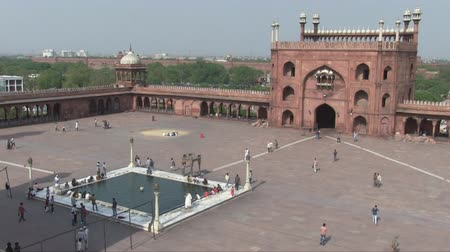 Old Delhi, India, November 2011: Aerial view of Jama Masjid Mosque.
