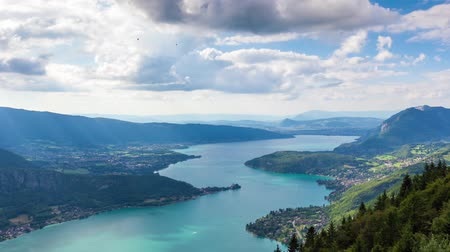 göl : Timelapse View of the Annecy lake from  Col du Forclaz
