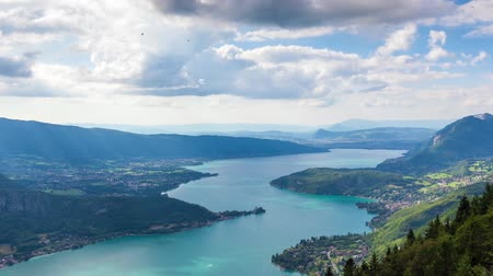 manzaraları : Timelapse View of the Annecy lake from  Col du Forclaz