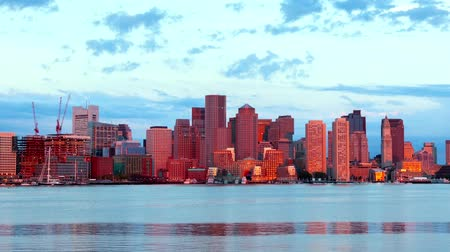 urban skyline : Timelapse of Boston Skyline in Massachusetts - USA