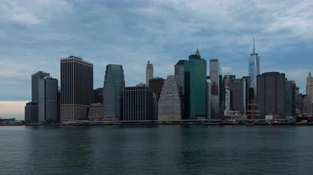 nyc : 4k Sunrise timelapse of Manhattan skyline in new york - USA