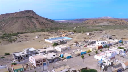 sál : Aerial view of Povoaçao velha city in Boavista Cape Verde - Cabo Verde