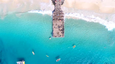 sál : Aerial view of Santa Maria beach in Sal Cape Verde - Cabo Verde