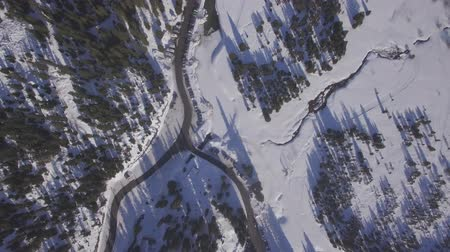 4K flat aerial view of praz lys ski resort in the French Alps in France - Log Stock Footage