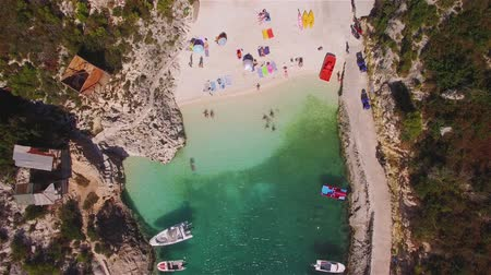 zante : 4K Aerial view of Porto Vromi beach in Zakynthos (Zakynthos) island, in Greece