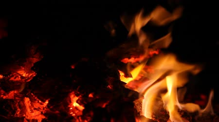 szatan : The fire is burning. The fire in the night a black background