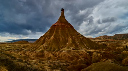 aridez : Real Bardenas, time lapse Stock Footage