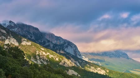 euskadi : Clouds over the mountain. timelapse