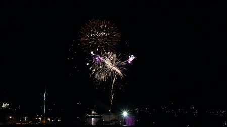 Canada Day fireworks on Halifax Harbour, Nova Scotia. Wideo