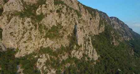 gora : aerial footage of Mountain Nanos above Vipava valley covered with forest