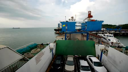 surat : samui ferry by time lapse.