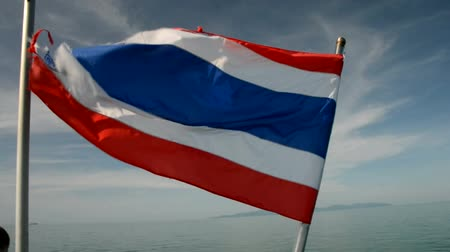 tajlandia : Thai flag by realtime. Wideo