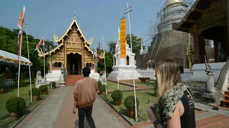 Будда : Buddhist temple thailand. Стоковые видеозаписи