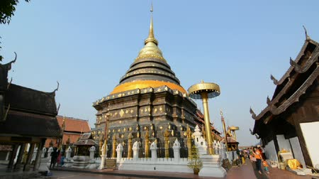 budist : Buddhist temple thailand. Stok Video