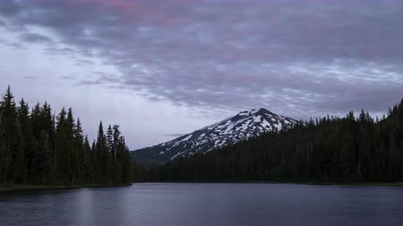 dobrar : Todd Lake Sunset Time Lapse Stock Footage