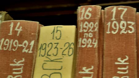 kgb : Filing of documents in the archives Department Stock Footage