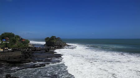 natural landscape : Tanah lot Temple Bali Stock Footage