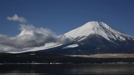 fuji : Yamanaka Lake and Mt. Fuji Stock Footage