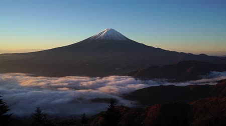 sacred site : Sea clouds and Mount Fuji