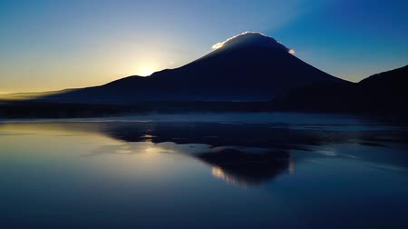 fuji : Mount Fuji from Lake motosu sunrise