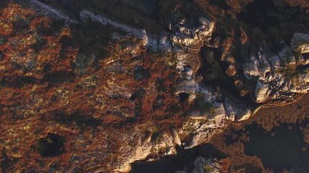 pic : Top view of the mountains, rocks and sea. Norway Stock Footage